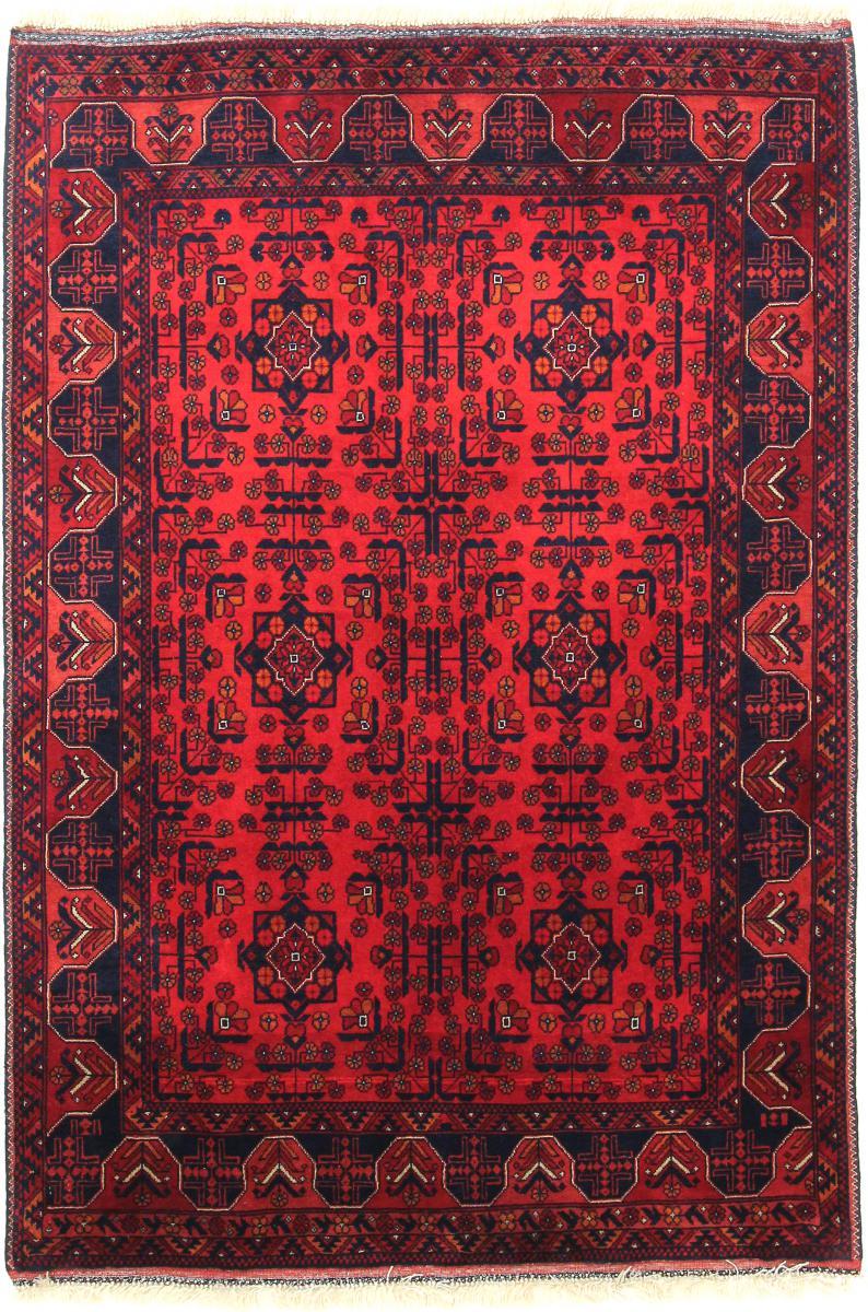 Nain Trading Tapis D'orient Khal Mohammadi Belgique 143x100 Marron Foncé/Violet (Laine, Afghanistan, Noué à la main)