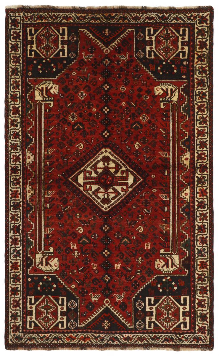 Nain Trading Tapis Shiraz 260x164 Marron Foncé (Laine, Perse/Iran, Noué à la main)