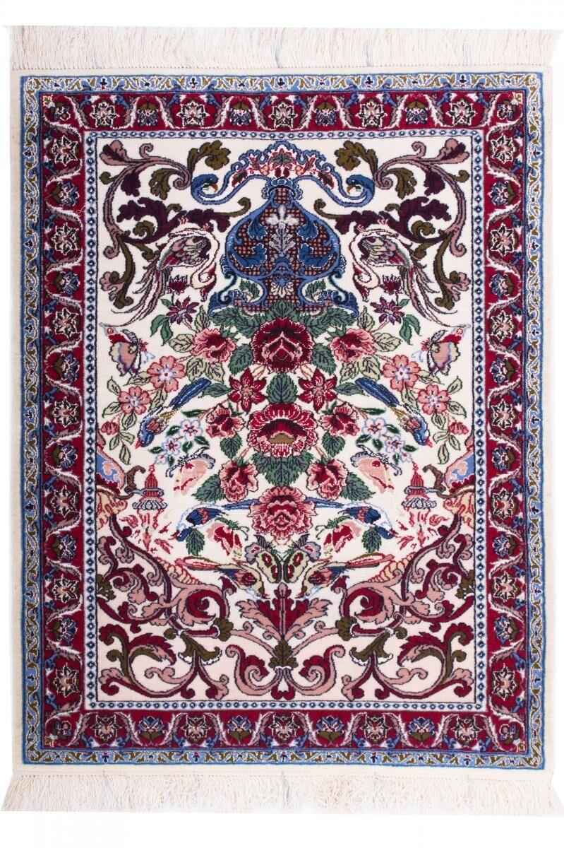 Nain Trading Tapis Ispahan 93x72 Gris Foncé/Violet (Laine, Perse/Iran, Noué à la main)