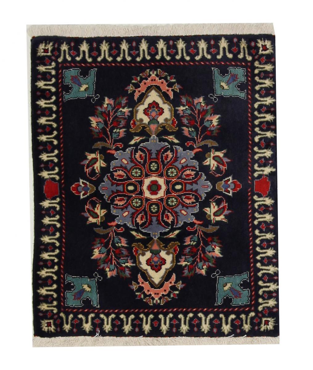 Nain Trading Tapis Kashan 83x68 Gris Foncé/Marron Foncé (Laine, Perse/Iran, Noué à la main)