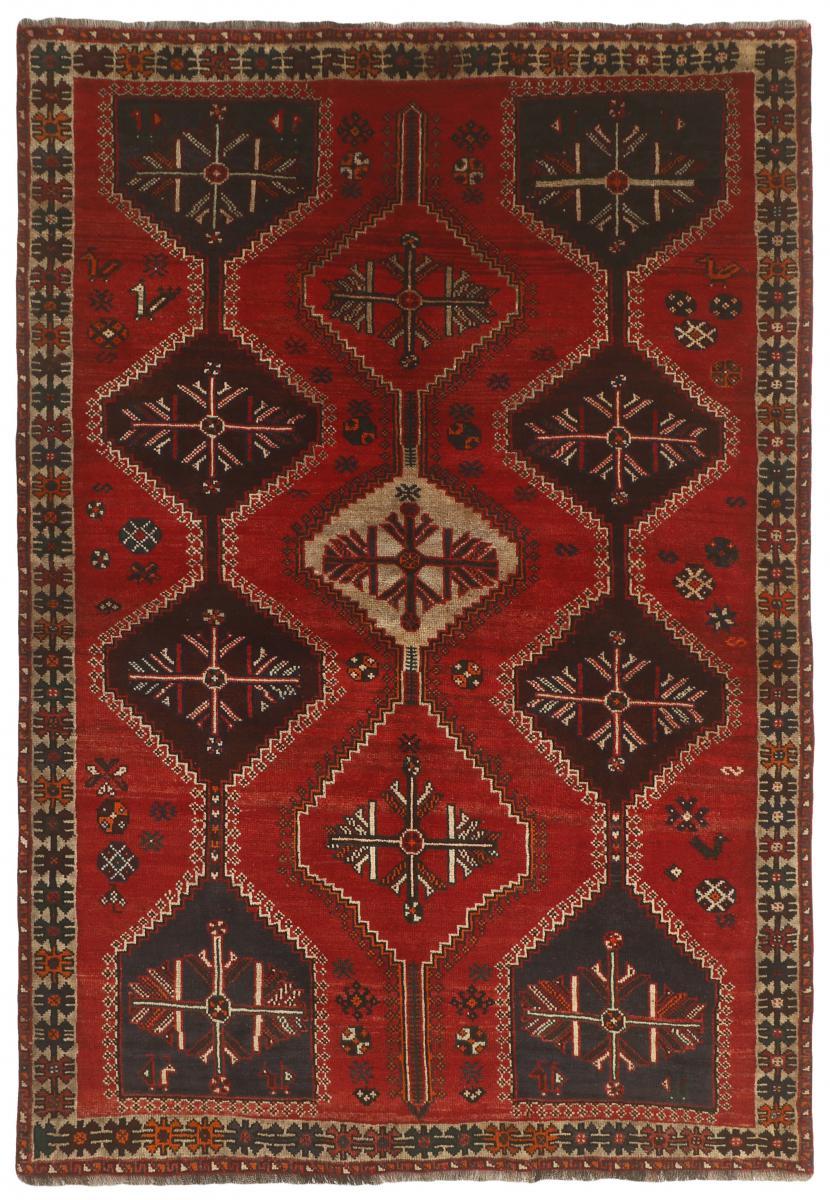Nain Trading Tapis D'orient Shiraz 239x168 Gris Foncé/Rouge Foncé (Laine, Perse/Iran, Noué à la main)