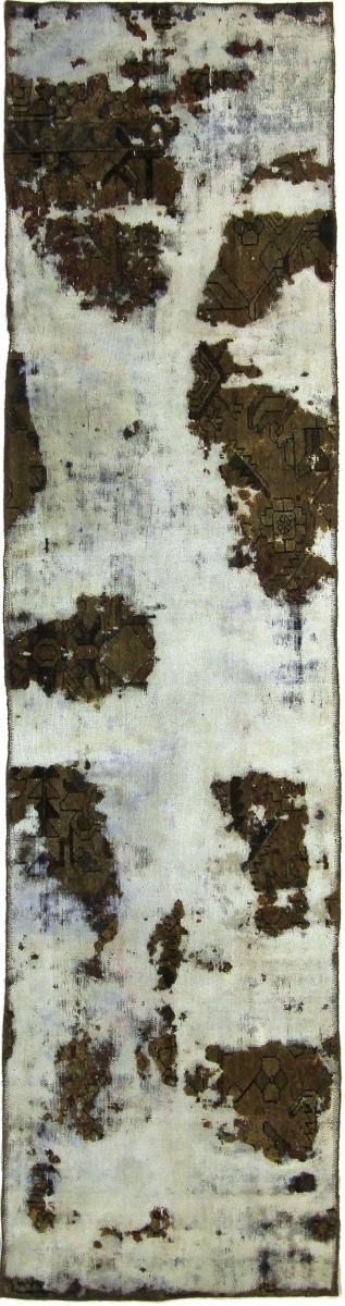 Nain Trading Tapis D'orient Vintage Royal 299x77 Gris Foncé/Olive Verte (Perse/Iran, Laine, Noué à la main)