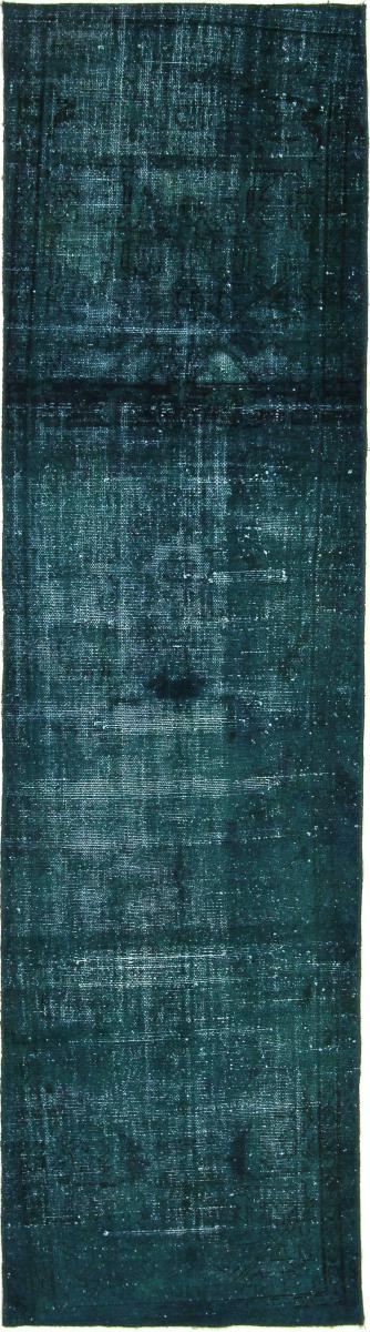 Nain Trading Tapis D'orient Vintage Royal 319x94 Coureur Gris Foncé/Bleu Foncé (Laine, Perse/Iran, Noué à la main)