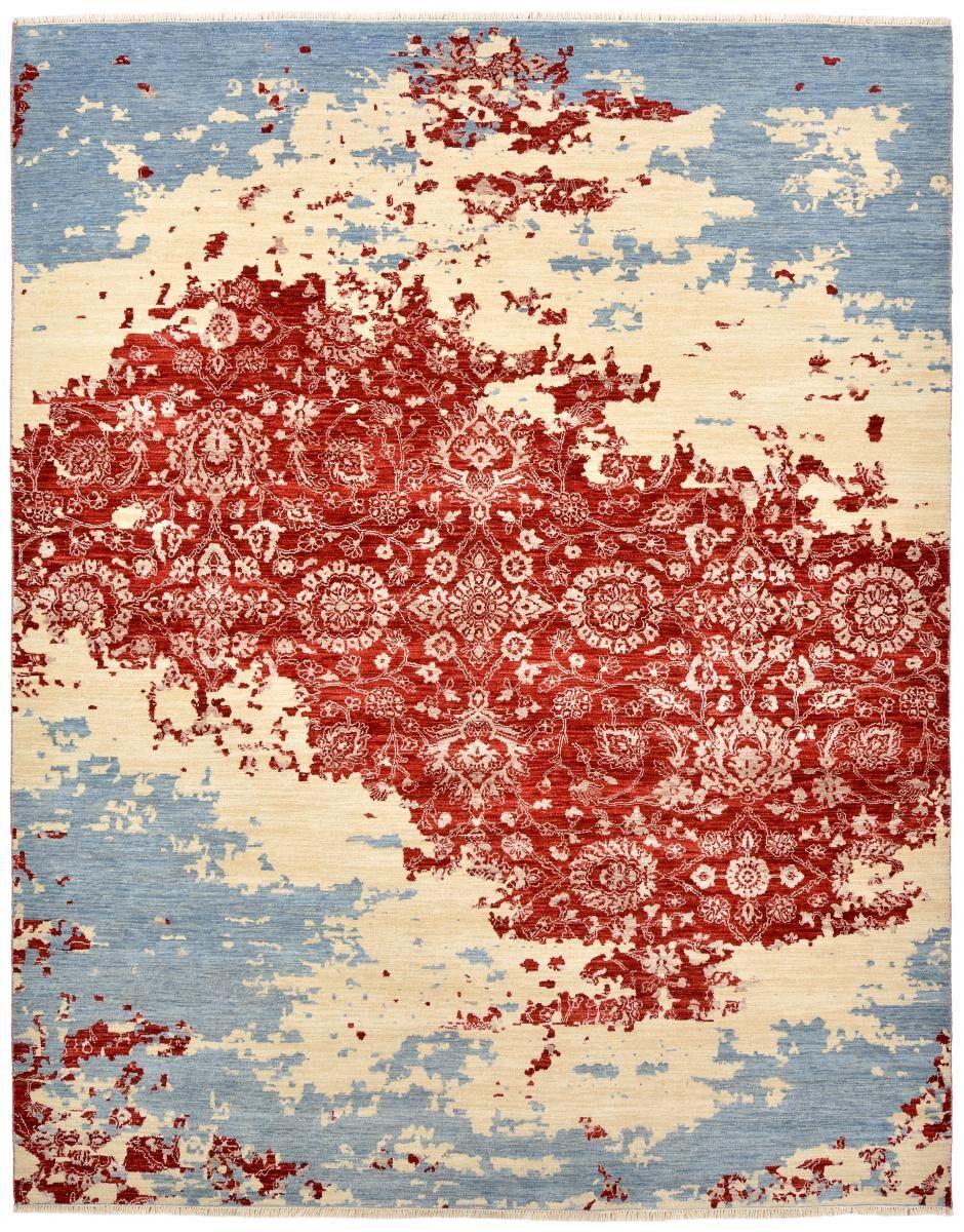 Nain Trading Tapis D'orient Sadraa 305x246 Gris/Bleu Clair (Noué à la main, Inde, Laine)