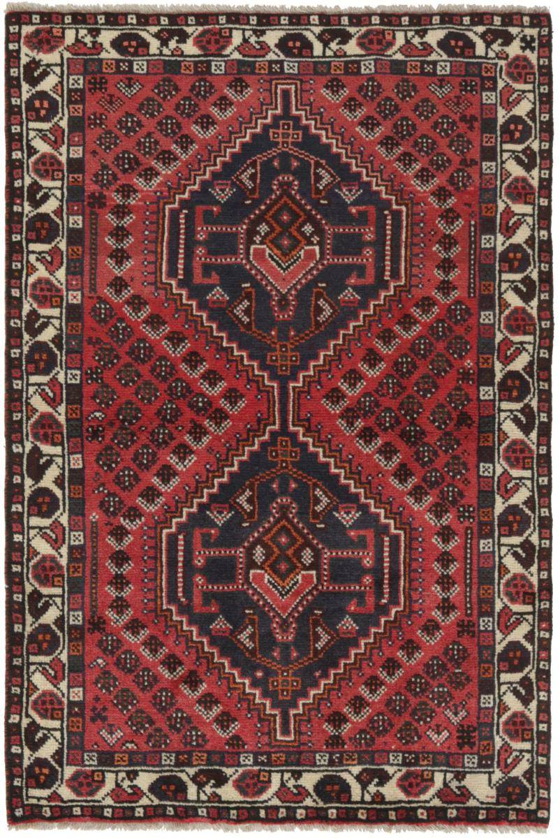 Nain Trading Tapis Shiraz 157x102 Gris Foncé/Marron Foncé (Laine, Perse/Iran, Noué à la main)