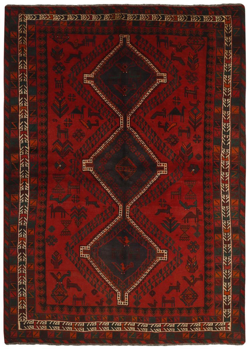 Nain Trading Tapis Fait Main Shiraz 282x203 Gris Foncé/Marron (Laine, Perse/Iran)