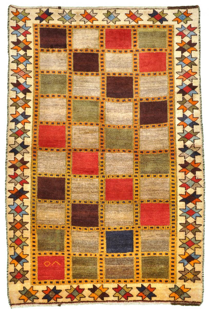 Nain Trading Tapis Fait Main Persan Gabbeh Ancien 166x112 Beige/Rose (Laine, Perse/Iran)