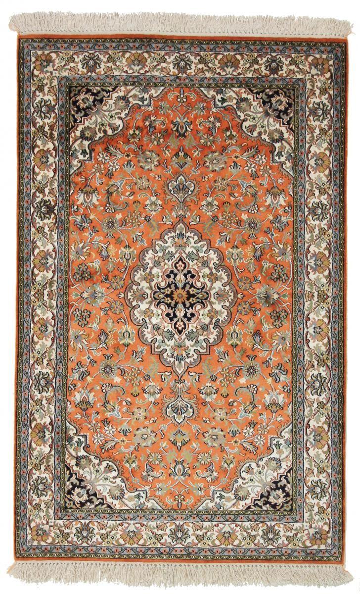 Nain Trading Tapis D'orient Cachemire Pure Soie 154x98 Marron/Orange (Soie, Inde, Noué à la main)