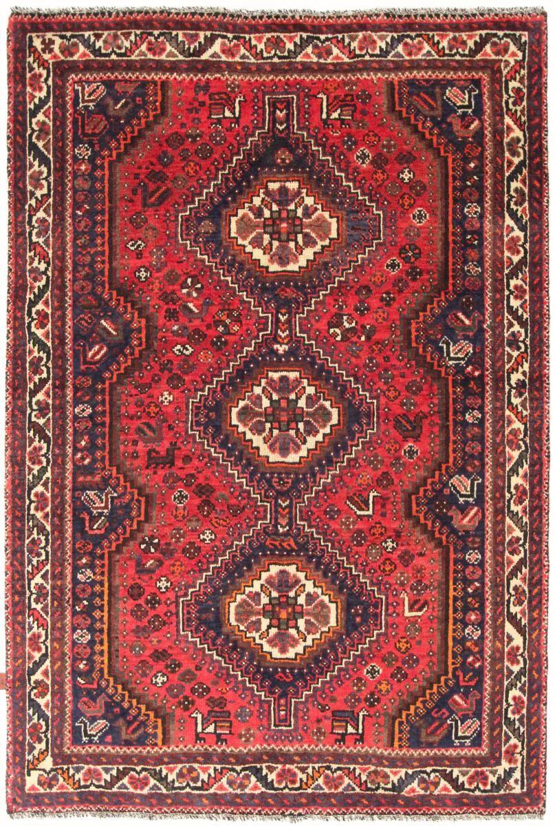 Nain Trading Tapis Persan Shiraz 238x160 Shiraz Gris Foncé/Rose (Noué à la main, Perse/Iran, Laine)