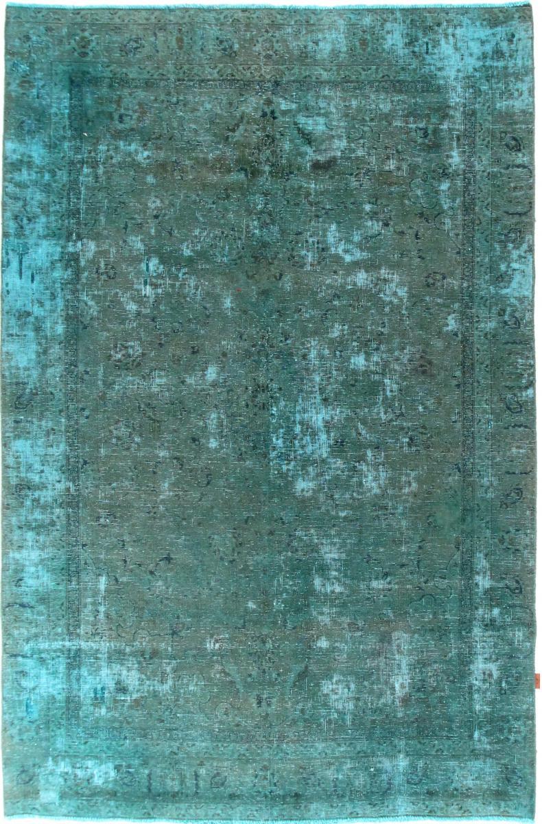 Nain Trading Tapis D'orient Vintage 275x179 Gris Foncé/Bleu Clair (Perse/Iran, Laine, Noué à la main)