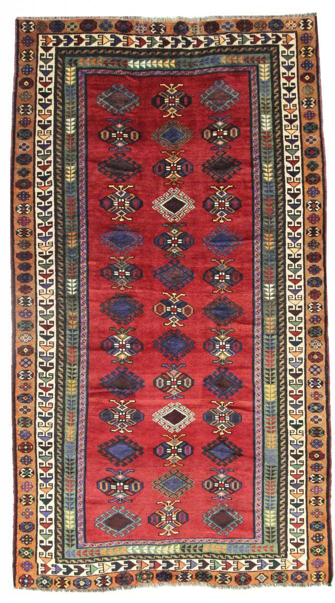 Nain Trading Tapis Persan Shiraz 289x159 Shiraz Gris Foncé/Rouille (Noué à la main, Perse/Iran, Laine)