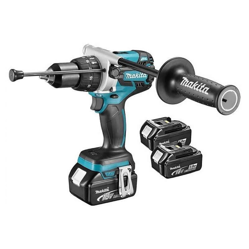 Makita Perceuse Visseuse à Percussion MAKITA DHP481RT3J 18 V sans charbon 3 x 5.0 Ah