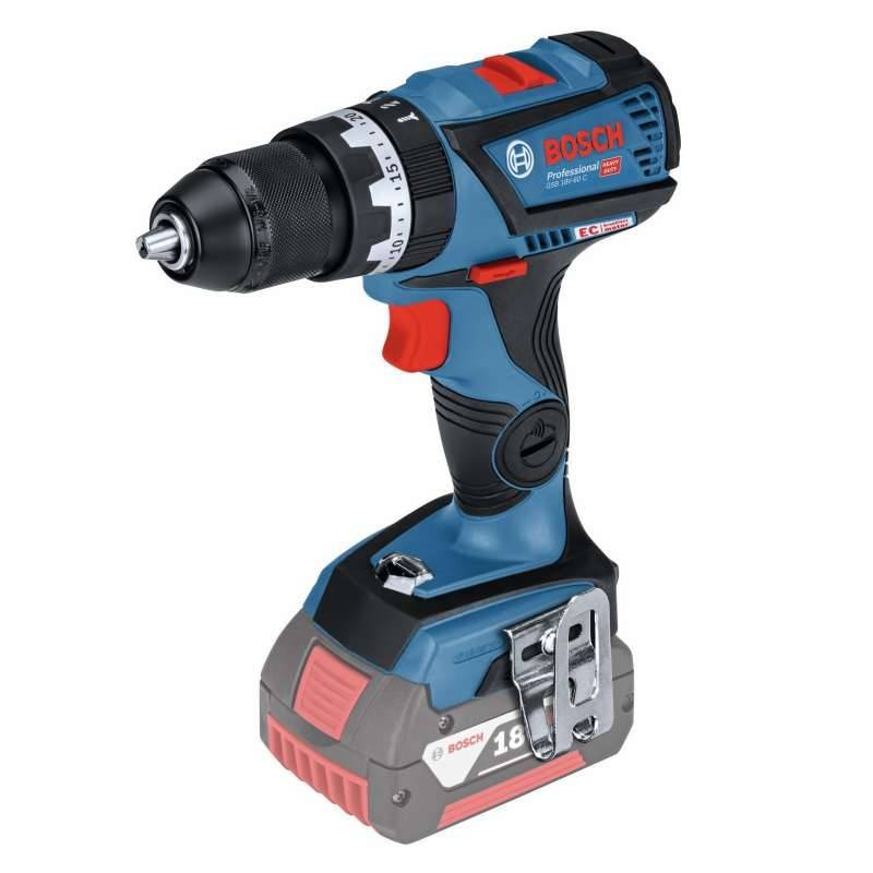Bosch Perceuse-Visseuse à percussion sans fil BOSCH GSB 18V-60C Professional (Machine nue)