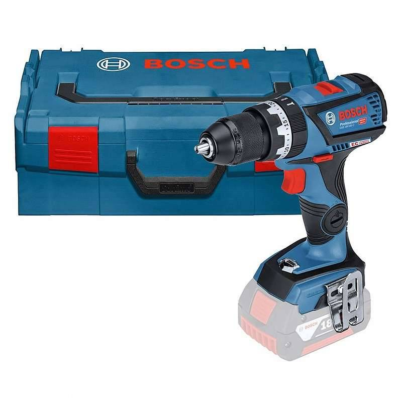 Bosch Perceuse-Visseuse à percussion sans fil BOSCH GSB 18V-60C Professional (Machine nue) + L-Boxx