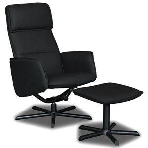 Kasalinea Fauteuil de relaxation en PU marron clair avec repose-pieds RENAUD-L 67 x P 106 x H 100 cm- Gris Gris - Publicité