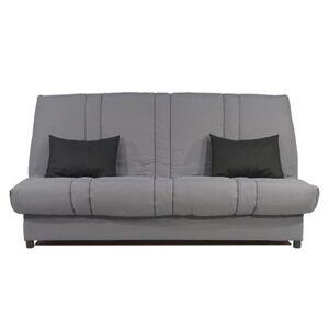 M-024 Banquette Clic-clac gris et noir CELINA-L 193 x P 95 x H 100 cm- Gris Gris - Publicité
