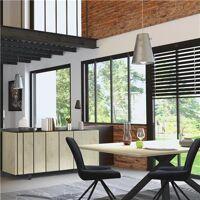 Kasalinea Salle à manger industrielle couleur bois et effet béton JEFFREY-L 200 x P 100 x H 74 cm- Marron Marron <br /><b>1233.99 EUR</b> Kasalinea