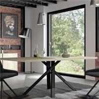M-011 Table industrielle couleur bois et effet béton JEFFREY <br /><b>566.19 EUR</b> Kasalinea