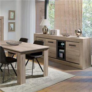 Kasalinea Salle à manger contemporaine couleur chêne clair WINSTON-L 223 x P 51,4 x H 94 cm- Marron Marron - Publicité