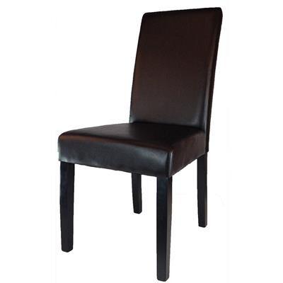 Kasalinea Chaise marron pour salle à manger EMINA (lot de 2)-L 48 x P 62 x H 100 cm- Marron Marron
