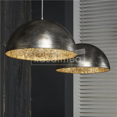 Kasalinea Suspension moderne finition argent vieilli MUSCA-L 110 x P 40 x H 150 cm- Gris Gris