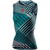 Castelli Maillot Femme Castelli Pro 2 (maille, sans manches) SS19 Aruba Blue/Turquoise Green M