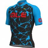 Alé Maillot Alé Solid MC Cracle SS19 Noir/Bleu/Rouge M