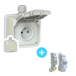 LEGRAND Pack Prise LEGRAND Green up - 090471 - 3,7 kW + Protections électriques - Publicité