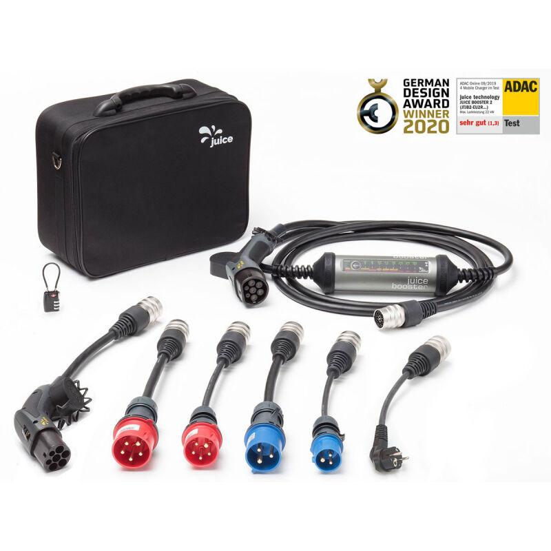 JUICE TECHNOLOGY JUICE BOOSTER 2 - Pack XL - Borne mobile de recharge 22kW - Type 2 - câble 5m