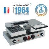 SOFRACA Gaufrier Professionnel express électrique - 4 gaufres - Sofraca