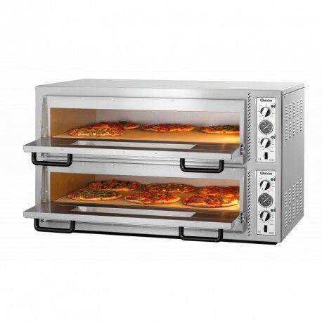 BARTSCHER Four à pizza double électrique professionnel - 12 pizzas - Bartscher