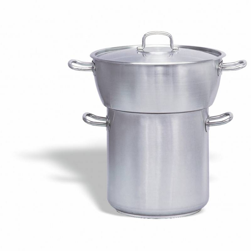 PUJADAS Couscoussier Inox Bombé 24 litres - Pujadas