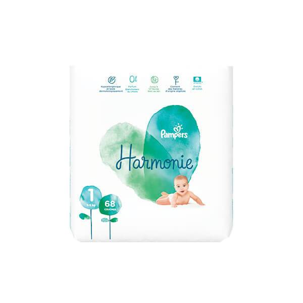 Pampers Harmonie 68 couches taille 1 (2-5 kg)