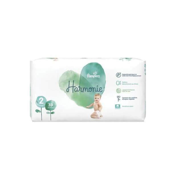 Pampers Harmonie 39 couches taille 2 (4-8kg)