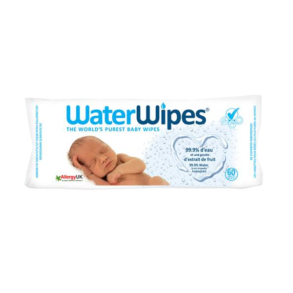 Gilbert WaterWipes 60 lingettes