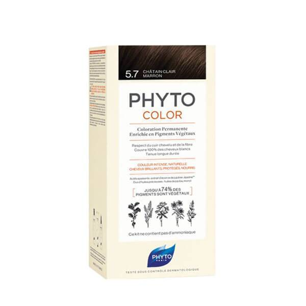 Phyto PhytoColor coloration permanente teinte 5,7 châtain clair marron 1 kit