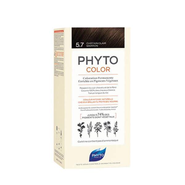 Phyto PhytoColor coloration permanente teinte 5,7 châtain clair marron 1 kit