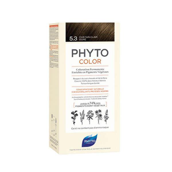 Phyto PhytoColor coloration permanente teinte 5,3 châtain clair doré 1 kit