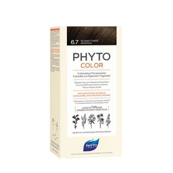 Phyto PhytoColor coloration permanente teinte 6.7 blond foncé marron 1 kit