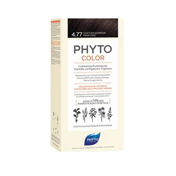 Phyto PhytoColor coloration permanente teinte 4.77 châtain marron profond 1 kit