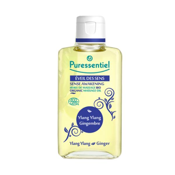 Puressentiel Éveil des sens huile de massage bio ylang/gingembre 100ml