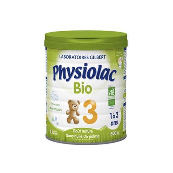 Physiolac Lait bio 3eme âge 800 g