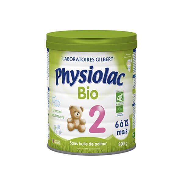 Physiolac Lait bio 2ème âge 800 g