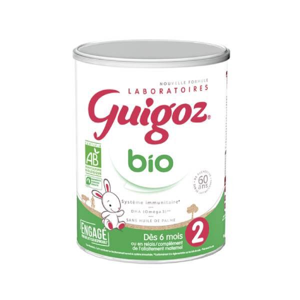 Guigoz Bio lait 2ème âge 800g