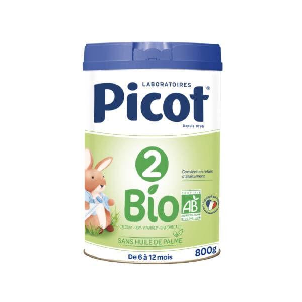Picot 2 lait 2ème âge bio 800g