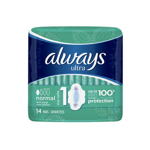 Always Ultra normal 14 serviettes hygiéniques taille 1
