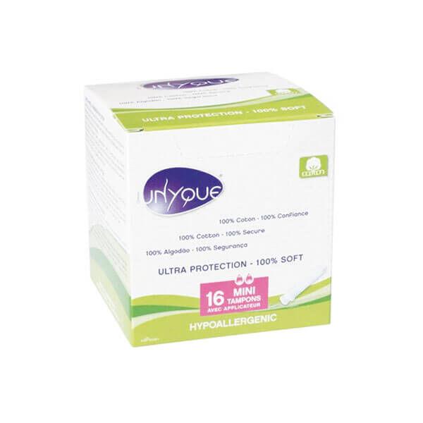 Unyque 16 mini tampons hypoallergéniques avec applicateur