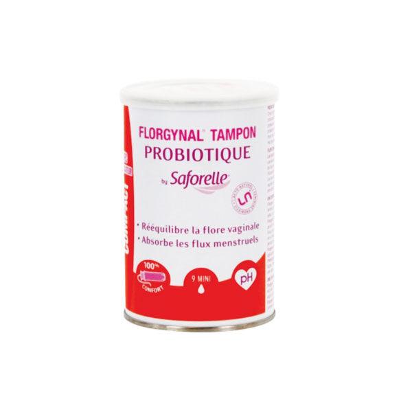 Saforelle Florgynal tampon probiotique applicateur compact 9 mini