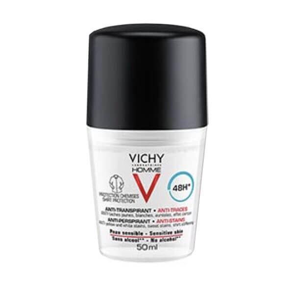 Vichy Homme déodorant anti-transpirant 48h anti-traces 50ml