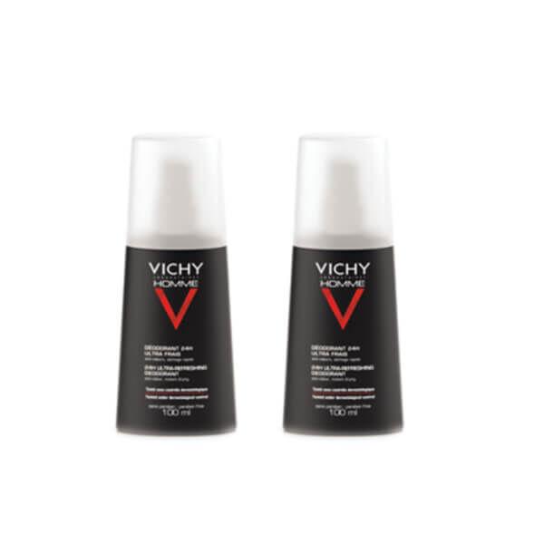 Vichy Homme déodorant 24h ultra frais lot 2x100ml